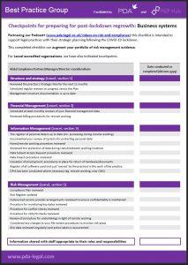 Post COVID checklist screenbgrab