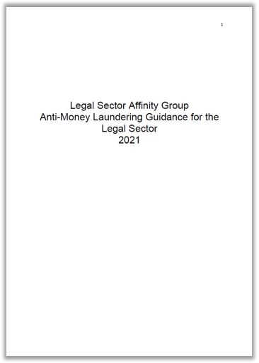 LSAG AML 2021 cover