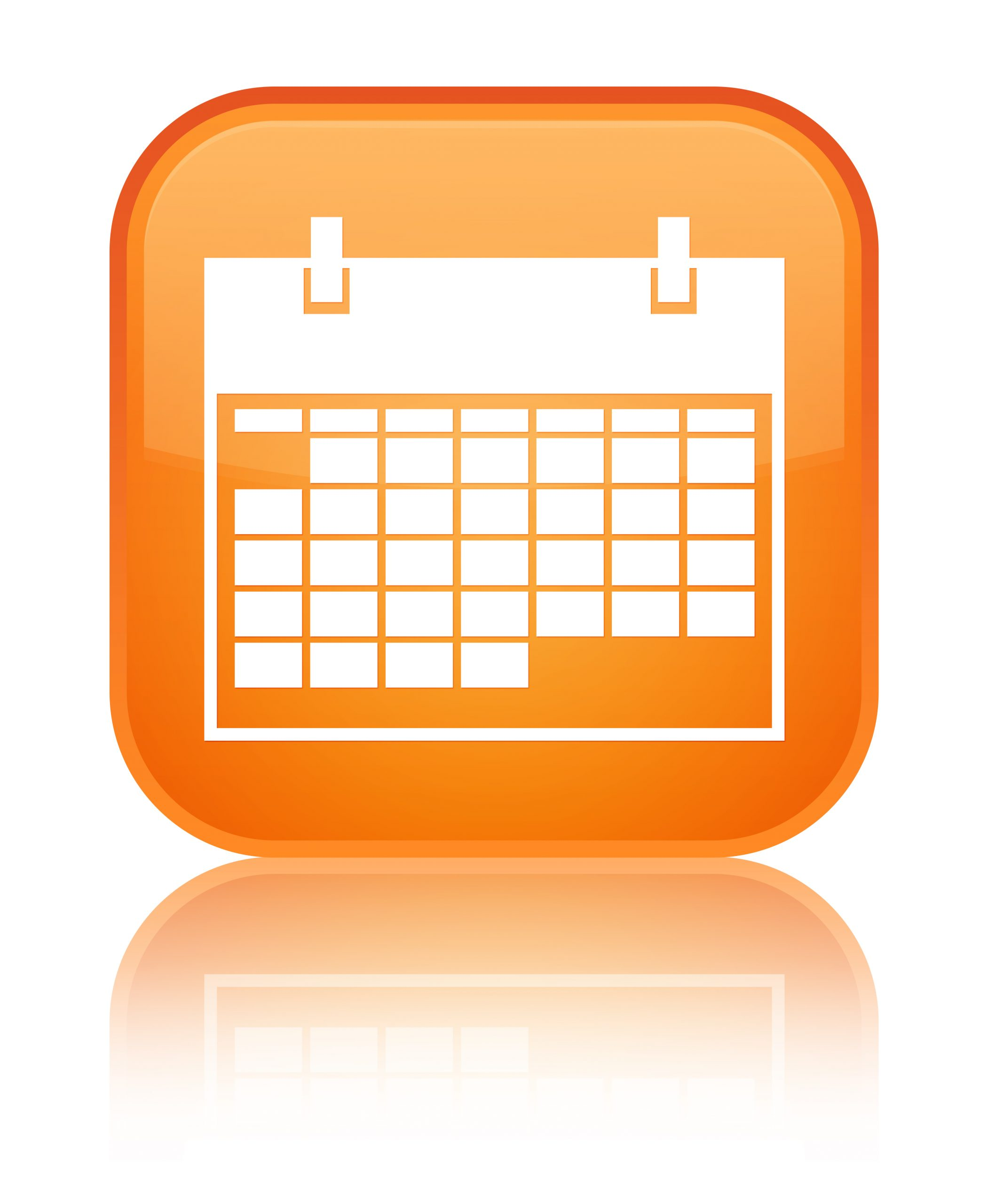 Calendar,Icon,Glossy,Orange,Reflected,Square,Button